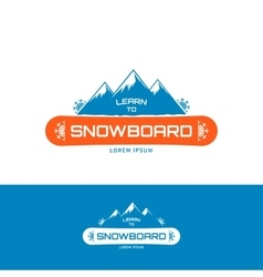 Learn to snowboard vector