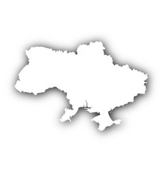 map of ukraine with shadow vector image vector image