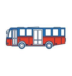 Modern public transport bus city transit shorter vector