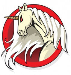 mythical unicorn vector image