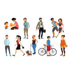 peoples walking on street vector image vector image