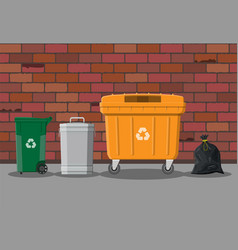 recycling and utilization equipment vector image