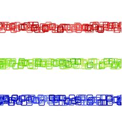 Repeatable square pattern separator line set vector