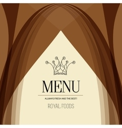 Restaurant menu design crown royal foods vector