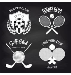 Set of sport banners on chalkboard vector