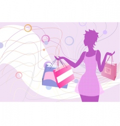 shopping silhouette vector image vector image