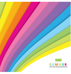 Summer colorful striped curve line pattern vector