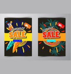 summer sale template banner vector image vector image