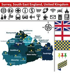 Surrey south east england vector