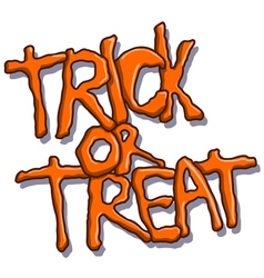 trick or treat halloween text vector image vector image