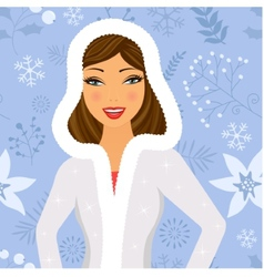 Winter beauty vector image vector image