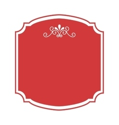 Frame elegant isolated icon vector