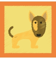 Flat shading style icon pet dog vector