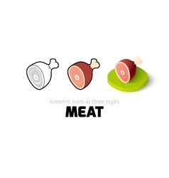 Meat icon in different style vector