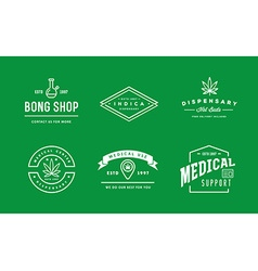 Set of Medical Cannabis Marijuana Sign or Label vector image