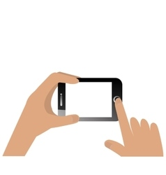 Hand human with smartphone vector
