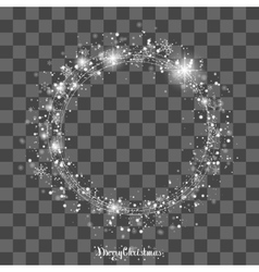 The circle of snowflakes vector