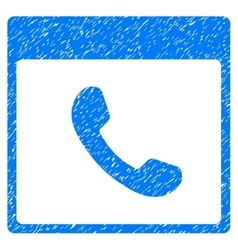 Phone calendar page grainy texture icon vector