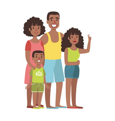 Father mother teenage daughter and young son vector