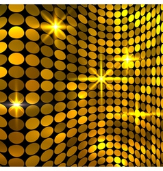 Wavy golden mosaic background vector
