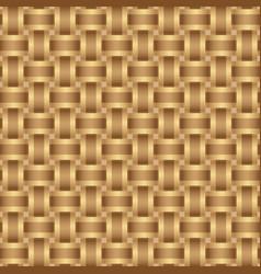 seamless pattern braided brown ribbon vector image