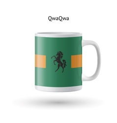 Qwaqwa flag souvenir mug on white background vector
