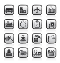 Cargo and logistic icons vector