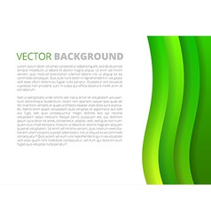 Green waves paper sheets vector
