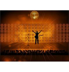 rockstar on stage vector image