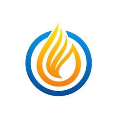 Fire liquid abstract logo vector