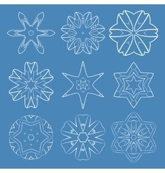 Blue round patterns vector