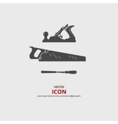 Woodworking tools icons vector image