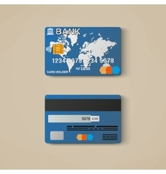 Bank card credit card design template vector image