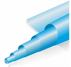 Abstract blue paper roll on white vector