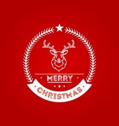 Christmas badge 2 vector