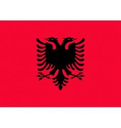 Albanian flag vector