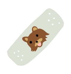Cartoon medical patch for kids flat icon vector