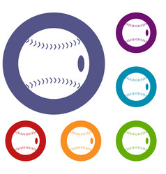 Baseball ball icons set vector