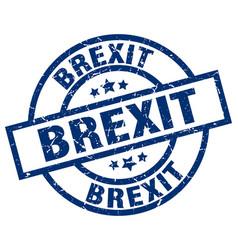 Brexit blue round grunge stamp vector