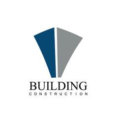building construction company logo vector image vector image