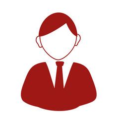 Businessman avatar silhouette icon vector