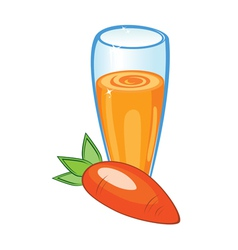 carrot juice vector image vector image
