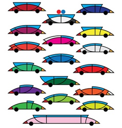 decorative cars vector image vector image