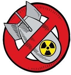doodle bomb no nuke vector image