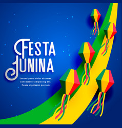festa junina design for june festival vector image vector image
