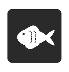 fish pictogram icon vector image