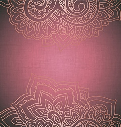 frame pattern of the indian floral ornament vector image