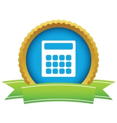 Gold calculator logo vector image vector image