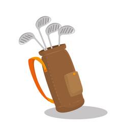 Golf sport clubs bag emblem icon vector