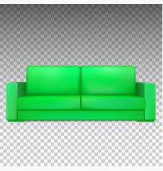 green modern luxury sofa for living room vector image